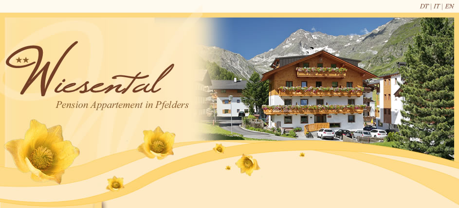 Pension Appartement  Wiesental in Pfelders im Passeiertal, Südtirol